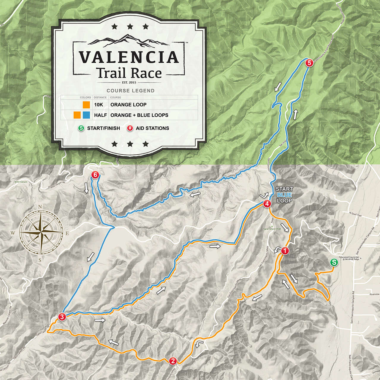 VALENCIA Trail Race - Half Marathon Course